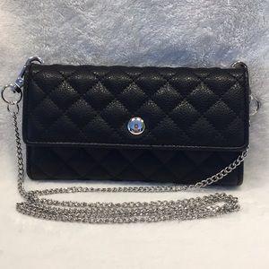 Handbags - Black Quilted Vegan Crossbody 4.5x7.5 EUC